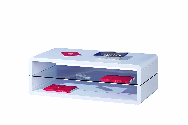 Bezaubernd Couchtisch Weiß Glasplatte Referenz Von Inter Link 50100135 Weiß Hochglanz Wohnzimmertisch Glas