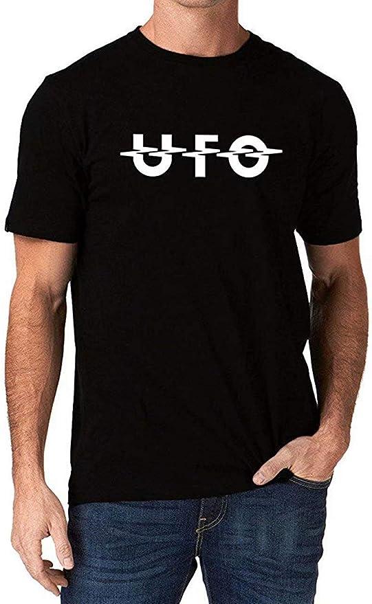 UFO Band Rock Music Metal Logo Camiseta Hombre M: Amazon.es: Ropa ...