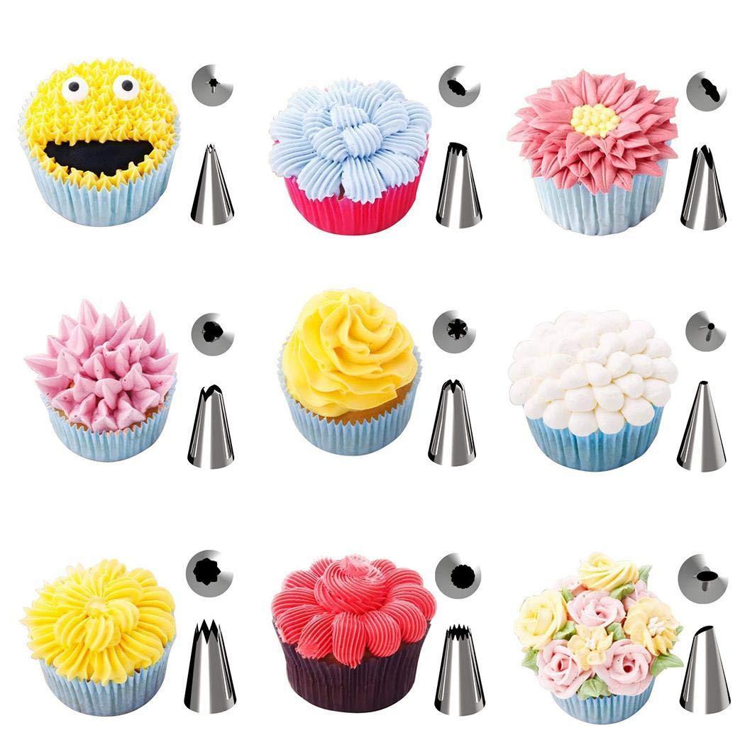 Kindsells 42 Pieces/Set Cake Decoration Nozzle Tools Set Cream Cake Making Tool Kitchen Tool by Kindsells (Image #3)