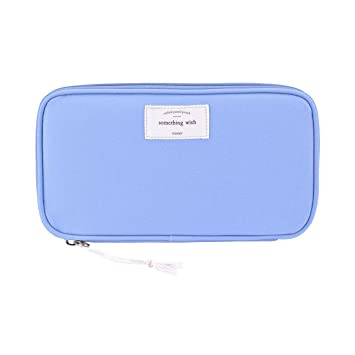 d91fbd674164 iSuperb Large Capacity Waterproof Oxford Pencil Case Stationery Pencil  Pouch Bag Case Cosmetic Makeup Bag Passport Organizer Bag 8.5x4.5inch