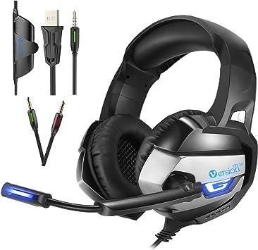 VersionTECH. Auriculares Gaming Cascos Estéreo Gamer Con Microfono ...