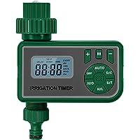 Romacci Controlador de irrigação de água inteligente com tela LCD Temporizador de irrigação de jardim Cronômetro de…