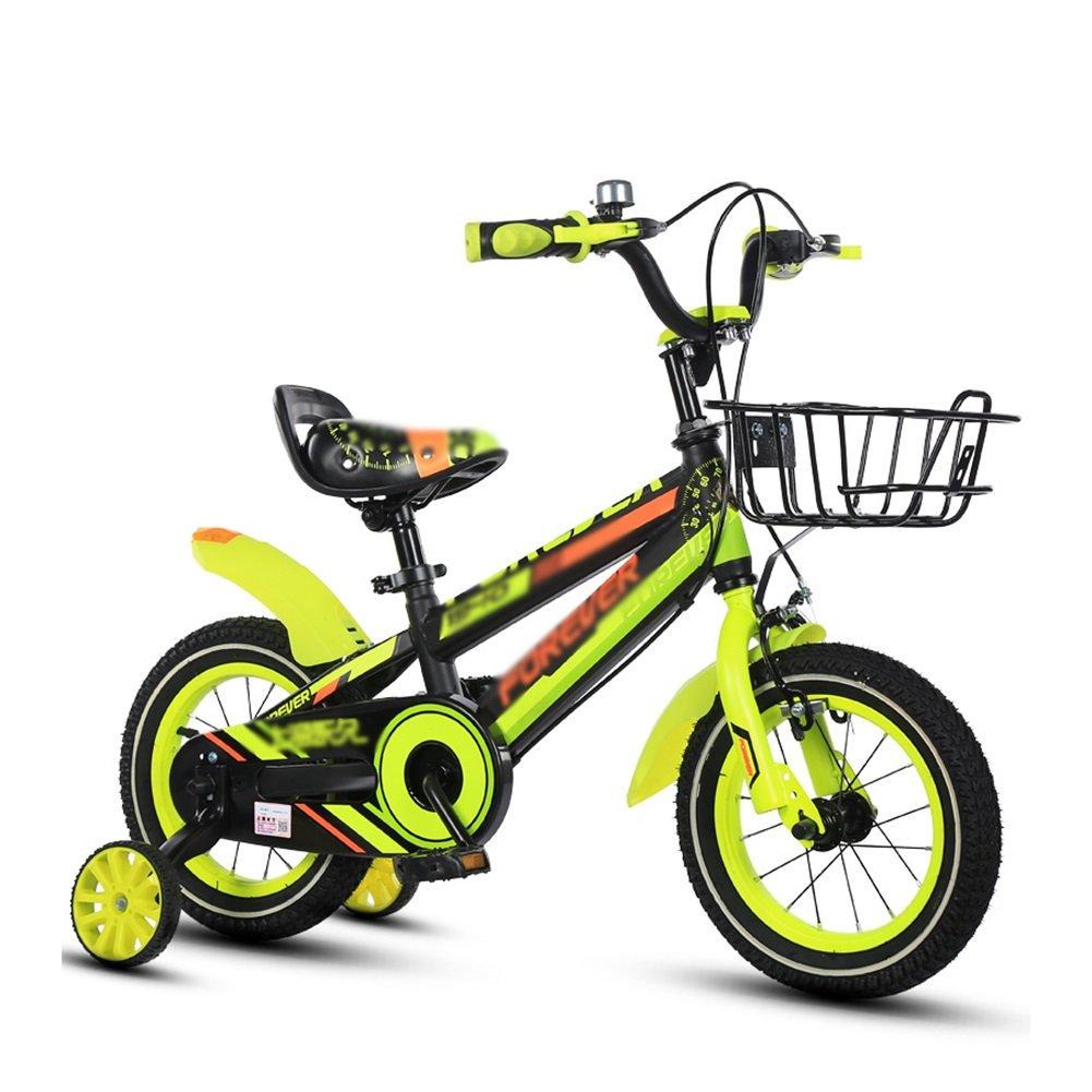 キッズバランスバイクベビーガールズ子Bikes子供の自転車Boy Babyペダル自転車2 – 10年古いイエローレッドブルー 16 inch イエロー B07FGWK2PV