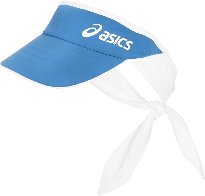ASICS para Mujer Tenis Tie Back Visera – Talla única, Azul, 58 cm ...
