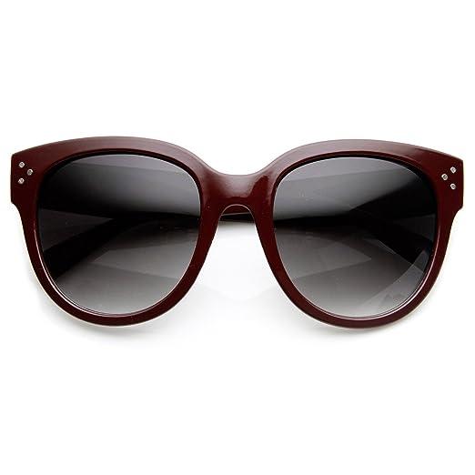 b95ae45e8bed1 Amazon.com  Womens Large Oversized Fashion Horn Rimmed Sunglasses ...