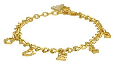 Guess Damen-Armband Iconic Charme mit Anhänger Edelstahl teilvergoldet Kristall  weiß 19 cm-UBB61081-S  Amazon.de  Schmuck 0ef8aeea3f