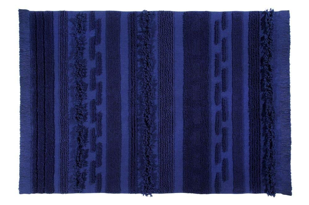 Lorena Canals Waschbarer Teppich Air Alaska Blue Natürliche Baumwolle -Marineblau- 140x200 cm