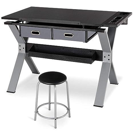 Sensational Amazon Com Adjustable Tiltable Drafting Table Drawing Desk Creativecarmelina Interior Chair Design Creativecarmelinacom