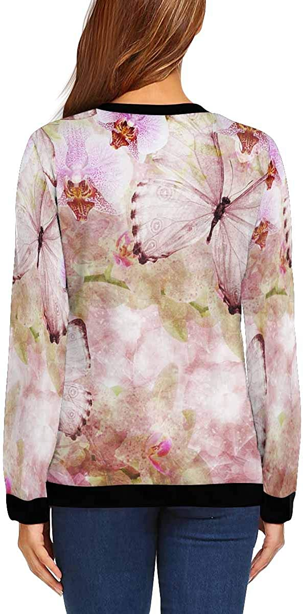 INTERESTPRINT Womens Long Sleeve Sweatshirt Broadway New York City Crew Neck Pullover Tops