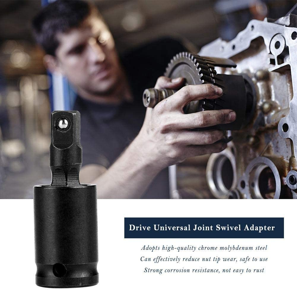 1//4inch Standard Joint Adapter,Drive Universal Joint Swivel Adapter Air Impact Wobble Socket