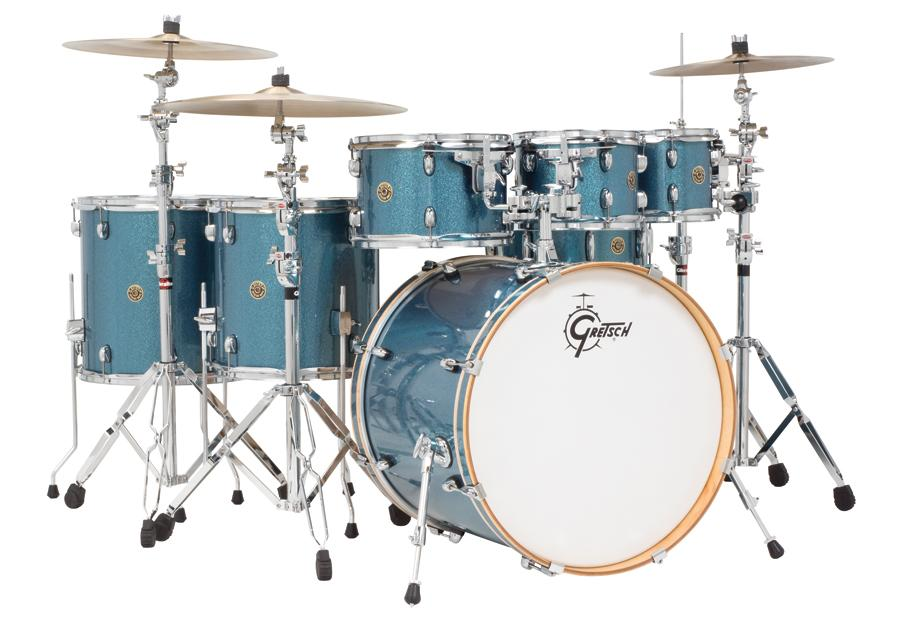 gretsch drums catalina maple cm1 e826p as 6 piece drum shell pack aqua sparkle. Black Bedroom Furniture Sets. Home Design Ideas