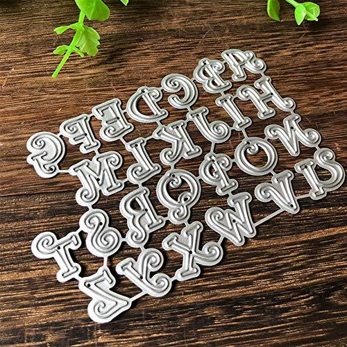 Alamana Capital Alphabet English Letter Metal Cutting Die DIY Scrapbooking Paper Birthday Cards Making Stencil