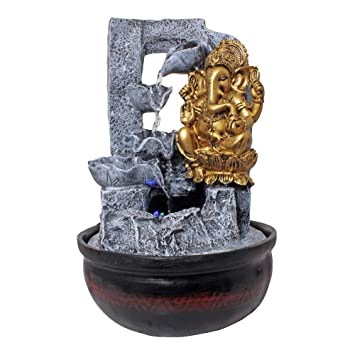 Lord Ganesha Indoor Water Fountain Home Decorative Table Top Showpiece Vastu God Idols Decor Item With Flowing Water40 Cm Amazonin Kitchen