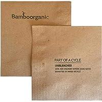 100% biodegradable Bamboorganic, 100% compostable 100% PCW 4-Ply Servilletas Kraft (200 Napkins)