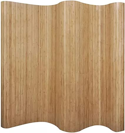 vidaXL Folding 4-Panel Room Divider Bamboo and Canvas 160cm Privacy Screen