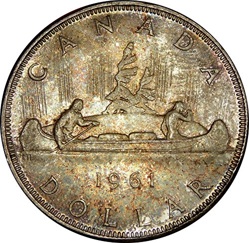 """1961 Canada Silver """"Voyageur"""" 1 Dollar Coin, About ..."""