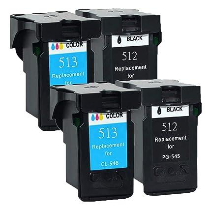 Teng® PG-512/CL-513 - Compatible con Impresora Canon Pixma ...