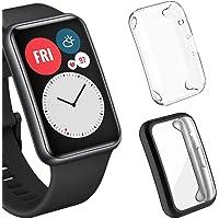 Sjiangqiao 2-Pack Protector de Pantalla Compatible con Huawei Watch Fit, [Cobertura Completa] [Alta Claridad] [Friendly…