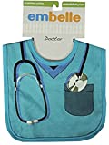 Embelle Baby Infant Boys Doctor Nurse Cotton Knit Bib Blue Scrubs