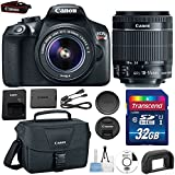 Canon EOS Rebel T6 DSLR Camera with EF-S 18-55mm IS Lens + 32GB Class 10 SD Memory Card + Canon 100ES Bag and Accessories