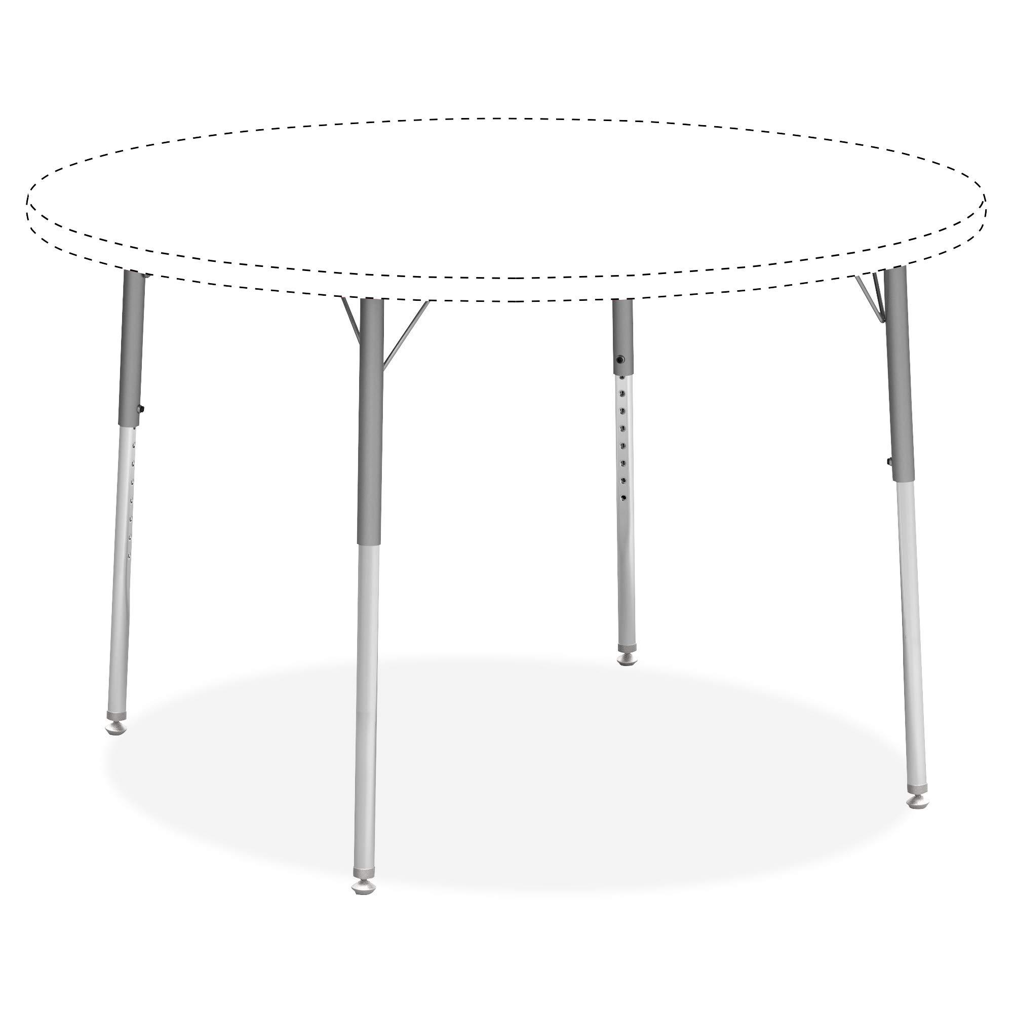 Lorell 99926 Classroom Activity Table Standard Height Adjustable Kit Leg, Chrome, Silver Mist by Lorell