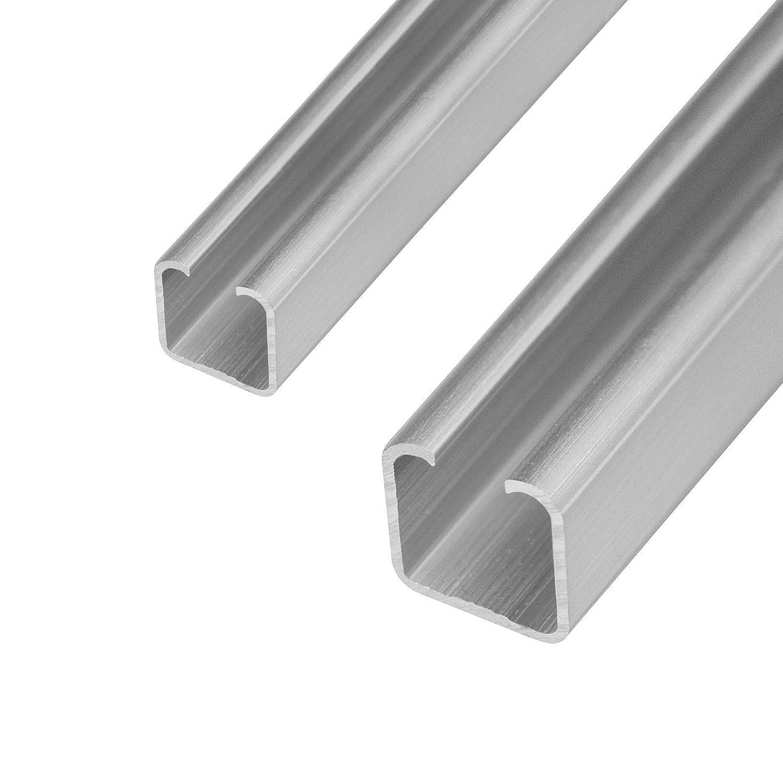 25mm, Materialst/ärke 3mm Schiebet/ür Laufschiene C Profil 20/&25mm L/änge 2m in 2 Gr/össen und 2 St/ärken w/ählbar