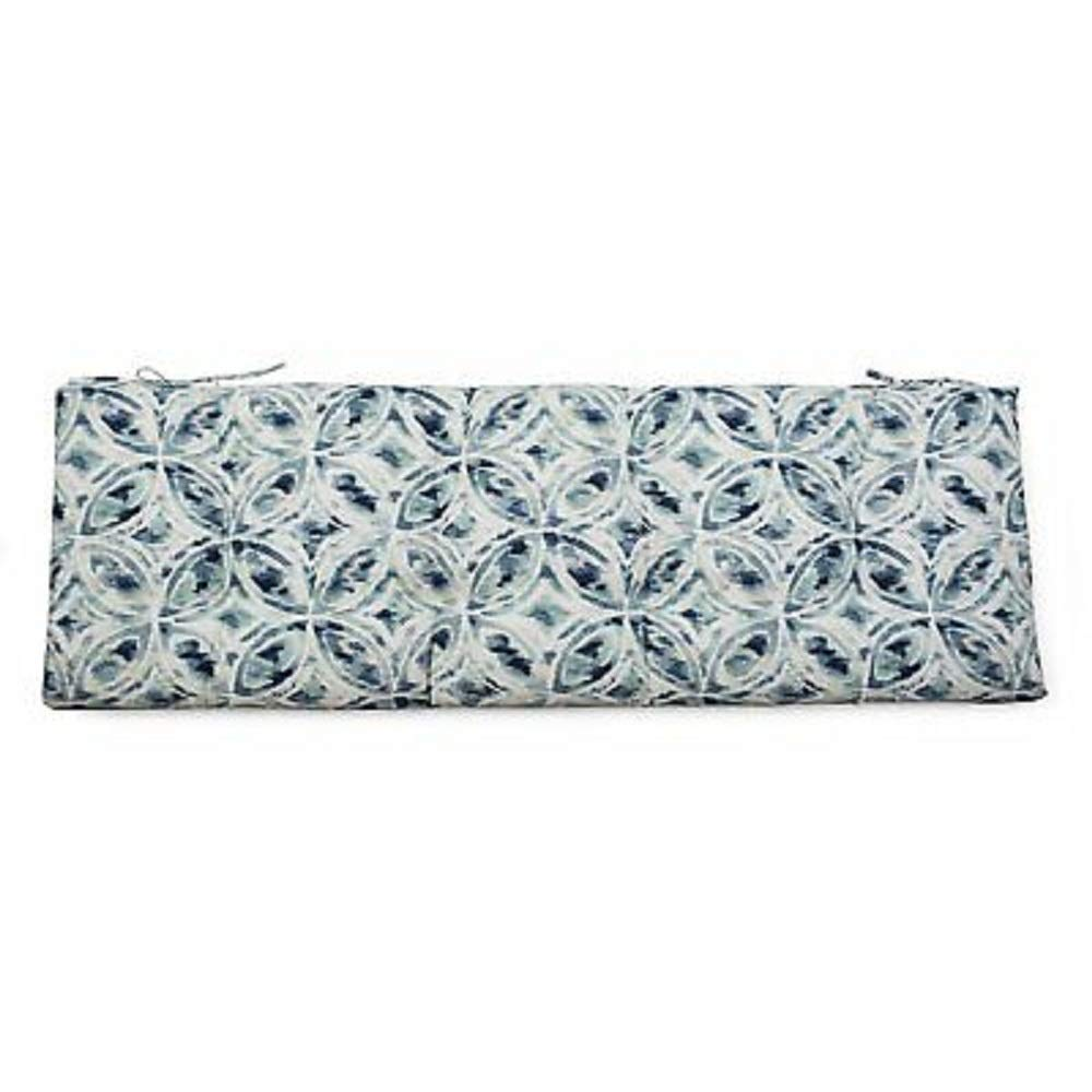 DN_HOM Wonderful Outdoor 55'' Tufted Bench Cushion Pad Collection for Patio Furniture (Blue Medalion) by DN_HOM