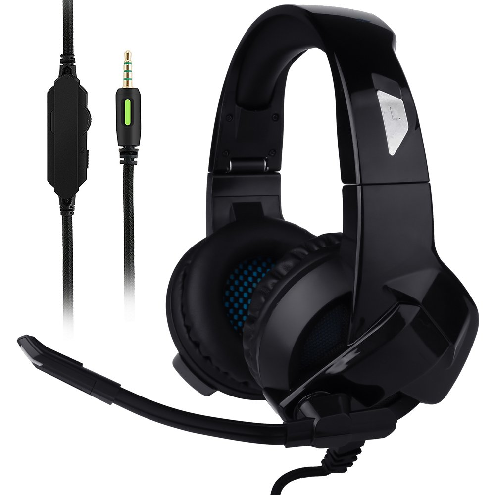 Ceppekyy Gaming Headset for Xbox One, PS4, Nintendo Switch, Laptop, PC, Mac, iPad and Smart Phones - Stereo Surround Sound&Noise-Cancelling, with Microphone by Ceppekyy