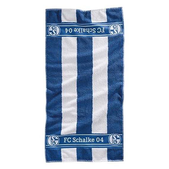 FC Schalke 04 Waschhandtuch Blockstreifen
