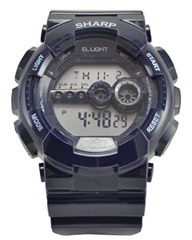Amazon.com: Sharp Digital Sport Watch with EL Backlight Navy Blue: Cell Phones & Accessories