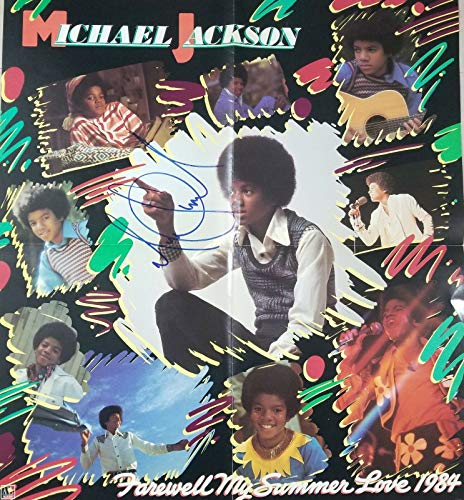 """King of Pop"" Michael Jackson Hand Signed 1984 21x24 Poster Todd Mueller COA from Unknown"