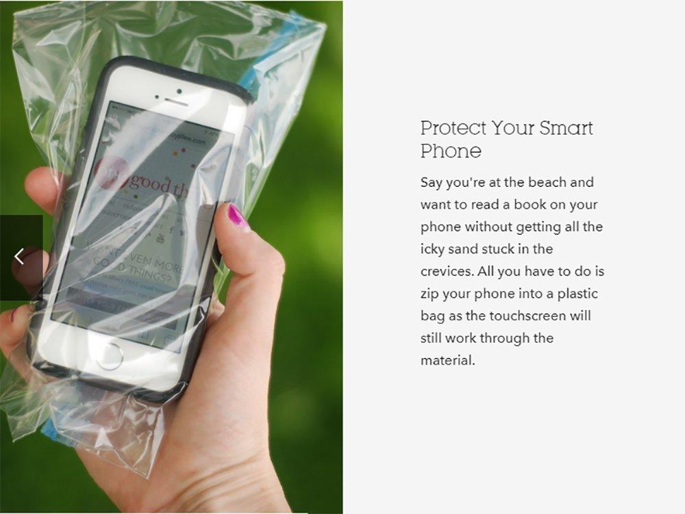 Piokio 6'' x 9'' Reclosable Plastic Bag Resealable Zip Bags, Clear, 2 Mil, Pack of 200 by Piokio (Image #6)