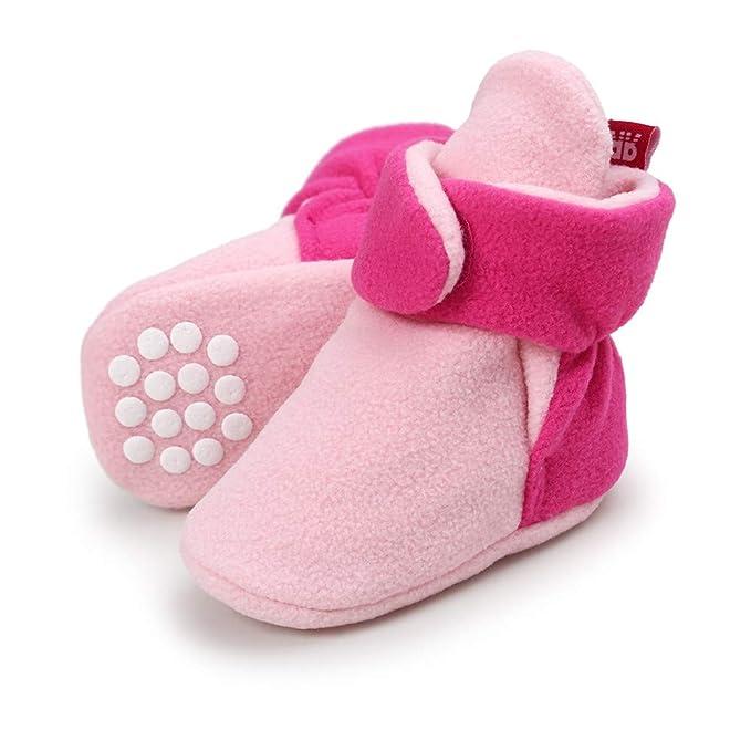 7 opinioni per Lacofia Scarpe antiscivolo con suola morbida per neonato o per bambina stivali