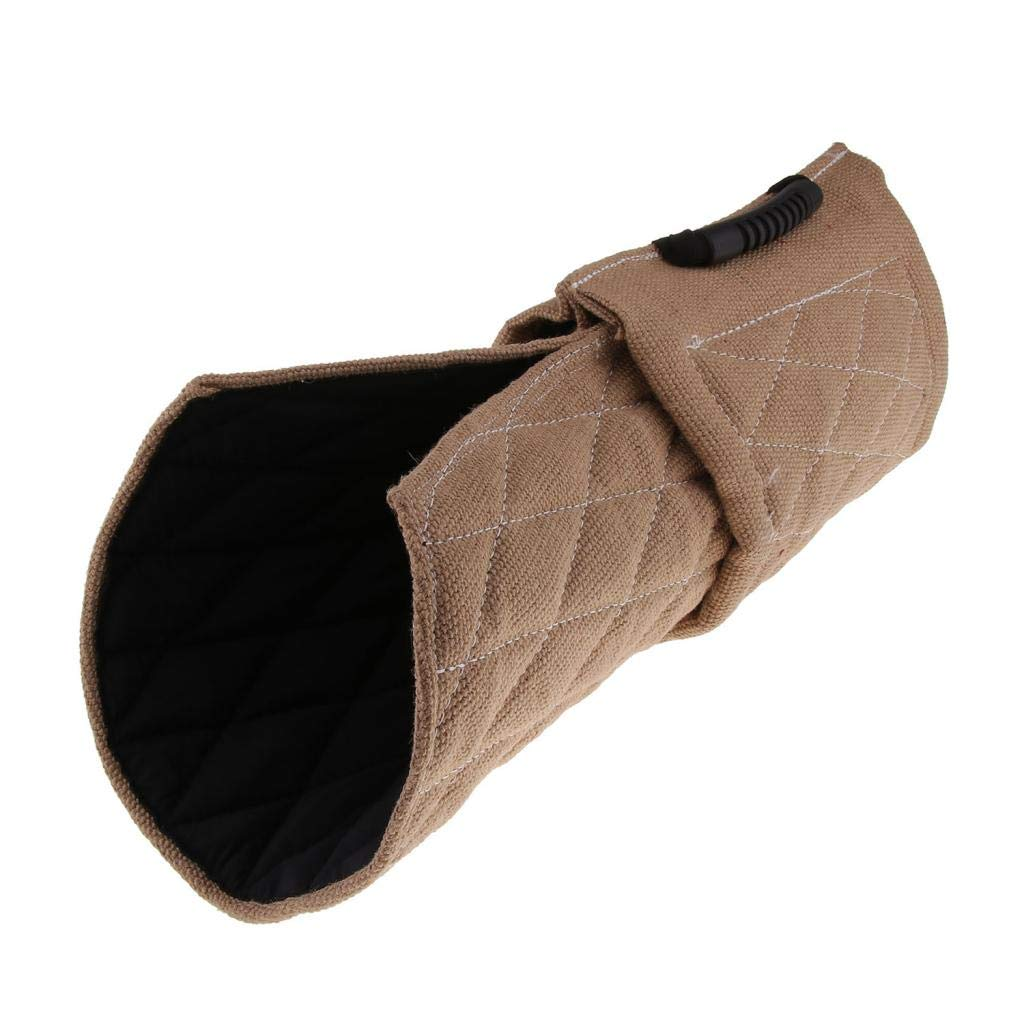 Serenable Beige Dog Bite Sleeve - Durable Safe Biting Pad with Comfortable & Strong Handles - Tug Toy for Medium to Large Dog by Serenable