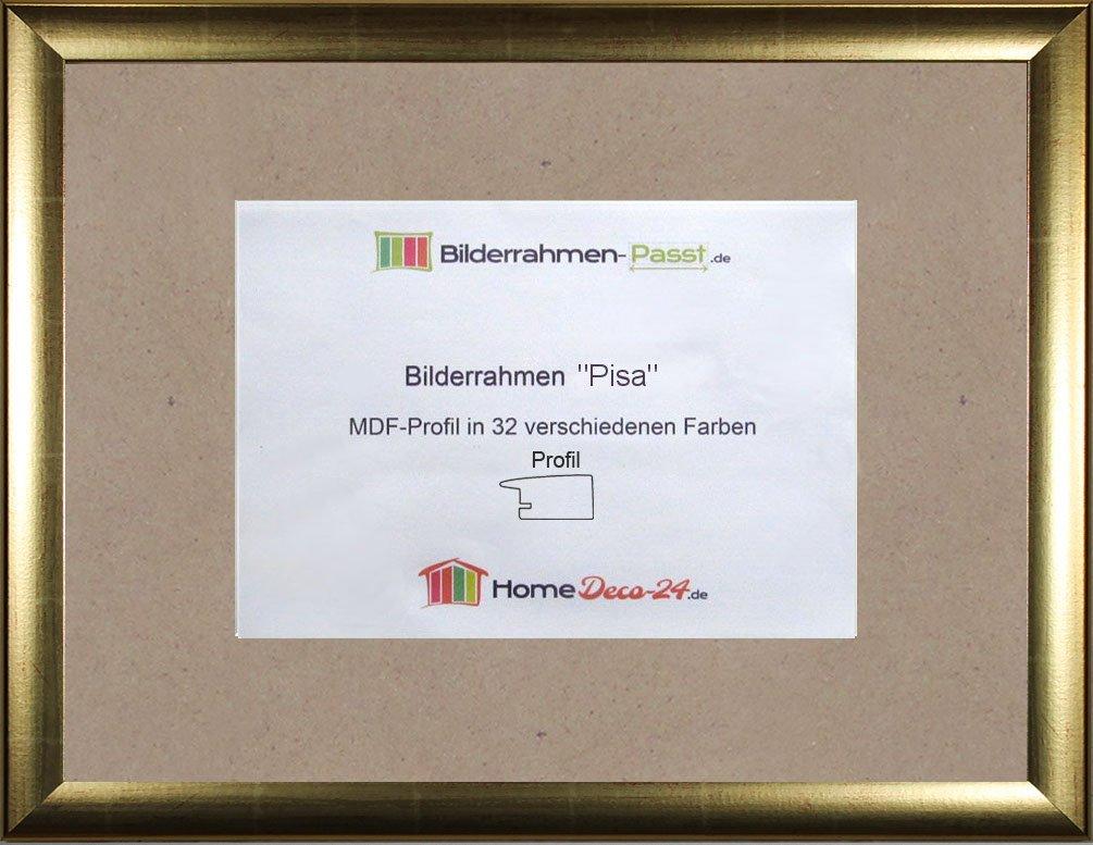 Pisa MDF-Photo Frame 35x45 cm 45x35 cm Choice of colour: Gold Gloss ...