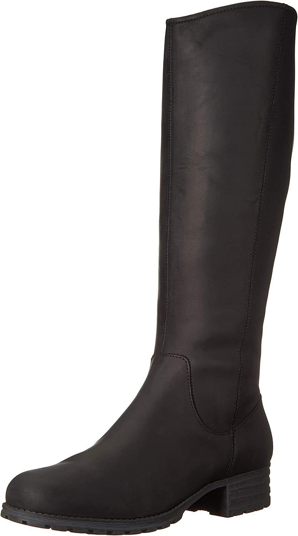 Clarks Women's Marana Trudy Fashion Boot, Black Leather, 050 M US