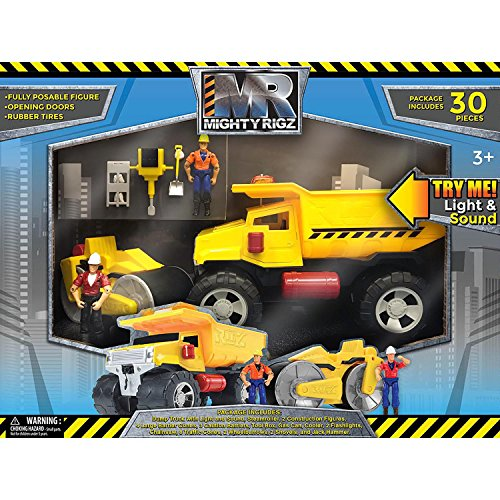 Set Construction Piece 30 (Mighty Rigz 30-Piece Street Construction Play Set)