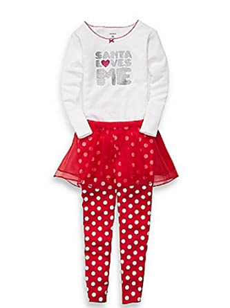 b17b901d46a5 Amazon.com  Carter s Infant Girls Red Santa Love Me Outfit Pants ...