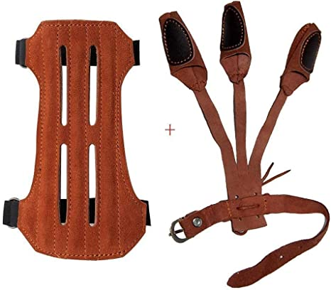 Archery Armguard Bow Hunting Shooting Arm Guard Protection W//2-Straps Protector