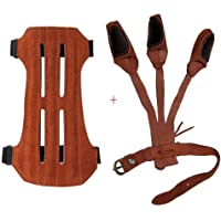 Strap Arm Guard Finger Guard Compound Recurve Bow Archery Hunting Accessories Y