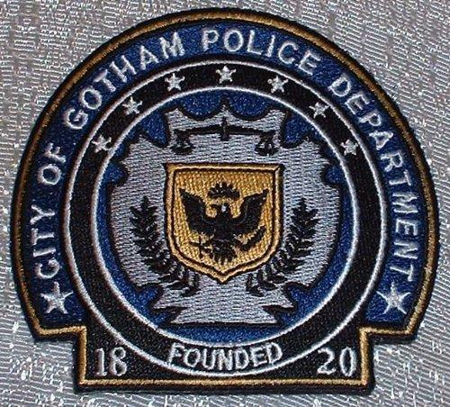 DC Comics BATMAN Dark Knight Rises Gotham Police Department Shield PATCH