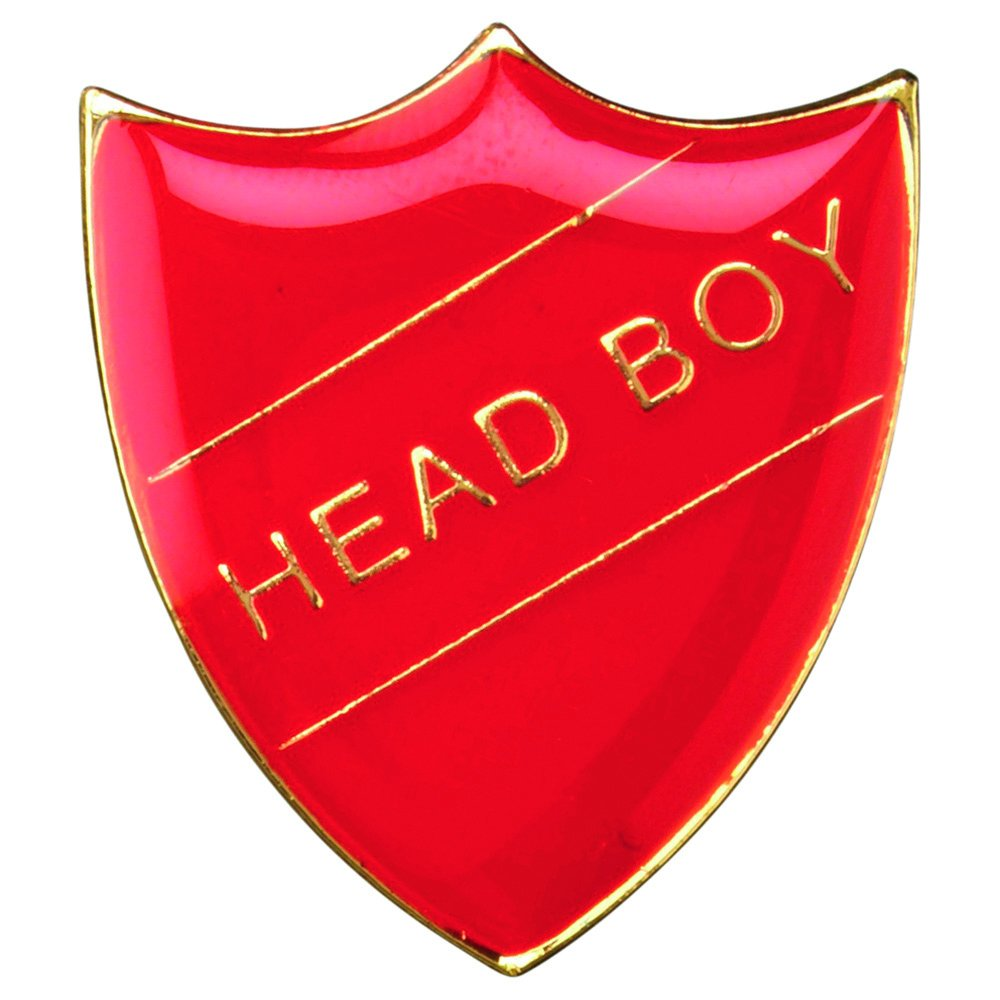 HEAD BOY METAL PIN BADGE RED SB017R
