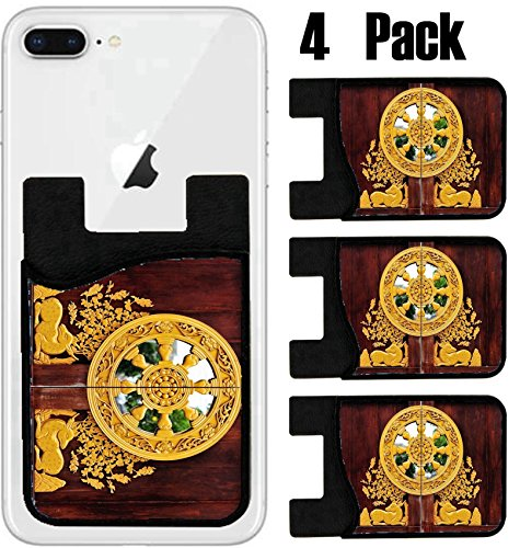 Msd Phone Card Holder  Sleeve Wallet For Iphone Samsung Android And All Smartphones With Removable Microfiber Screen Cleaner Silicone Card Caddy 4 Pack  Image Id  31121113 Beautiful Gate Of Wat Leng N