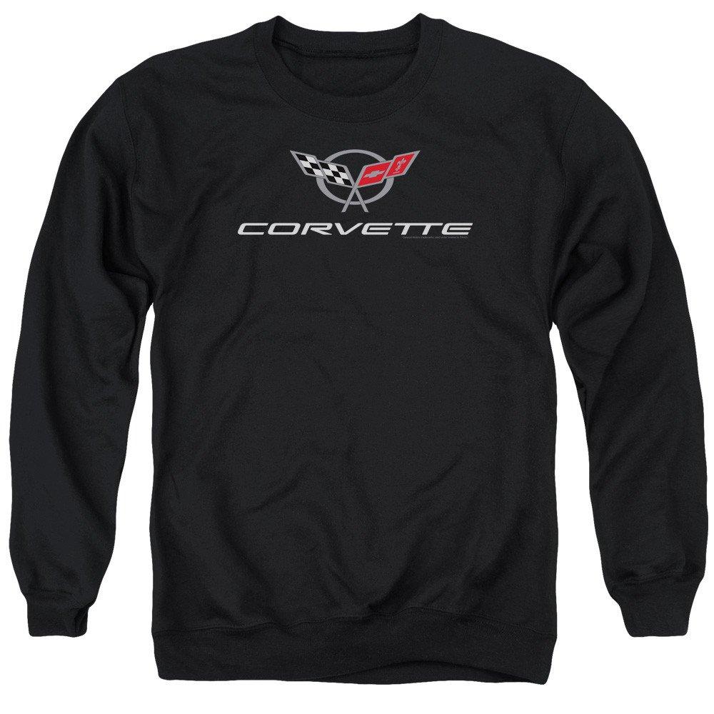 Chevy Corvette Modern Emblem Adult Crewneck Sweatshirt