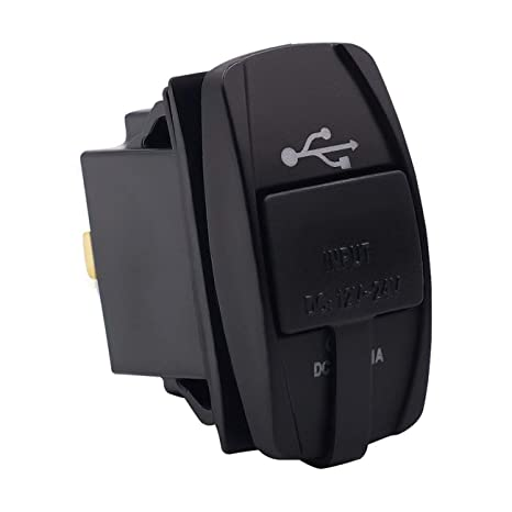LasVogos Enchufe Cargador USB Universal para Coche con luz ...