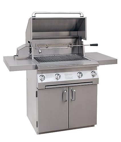 Amazon.com: Solaire 30-Inch propano Cart parrilla con asado ...