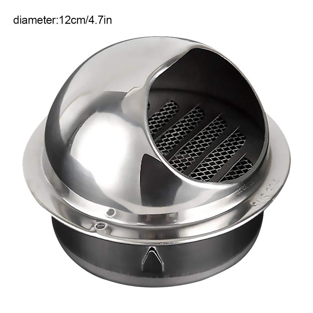 Miss-an Luftausströmer des Edelstahl-304, Außenaußenwand-windundurchlässige Regen-Kappe sphärische Ventilations-Abdeckung für Küche