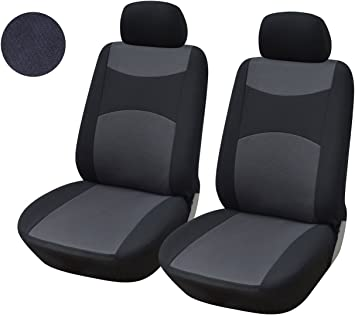 2 BLACK FRONT CAR SEAT COVERS