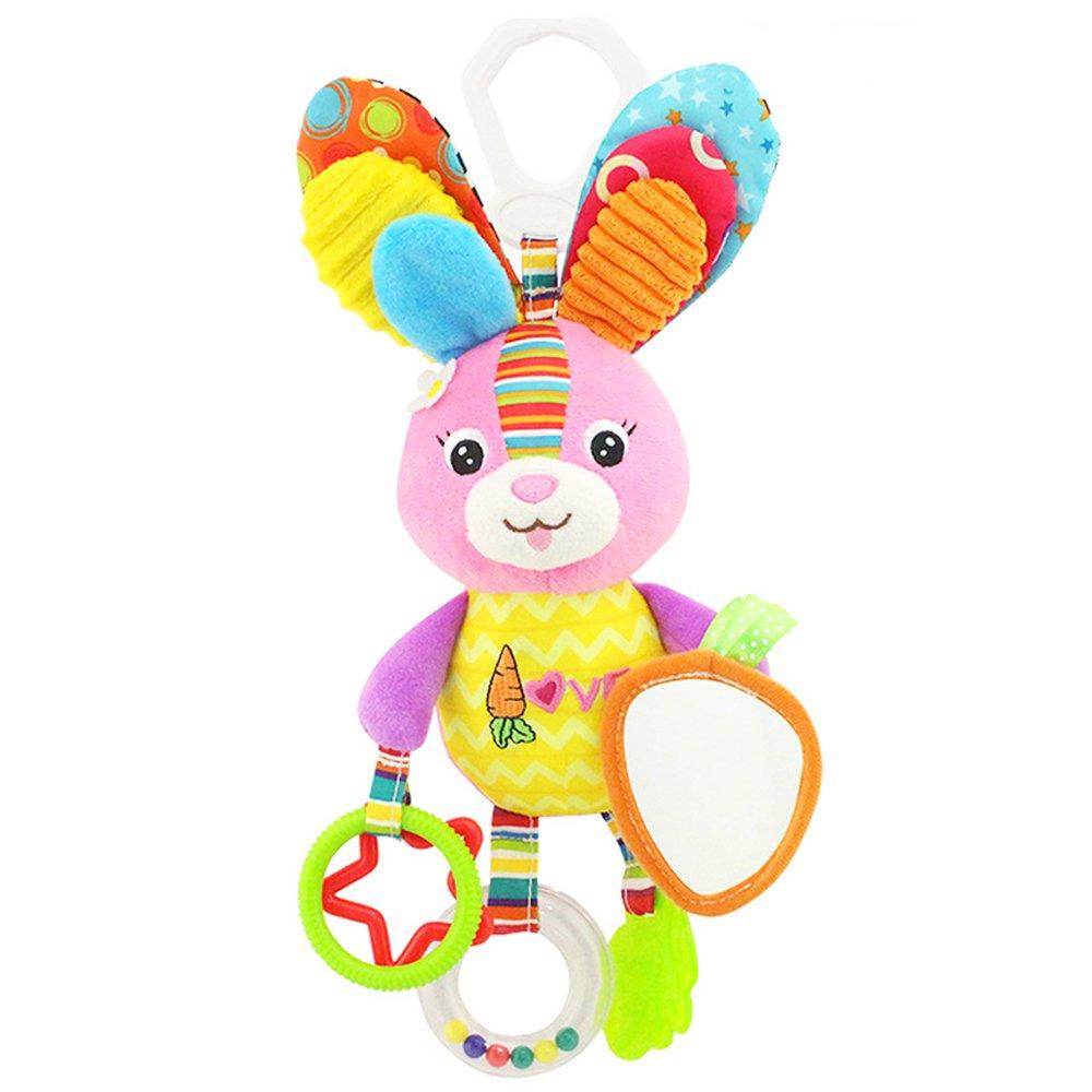 Newin Star Giocattoli da Appendere Passeggino Giocattoli e Passeggino Letto Culla Appesa Sonaglio per Neonati e Bambini (Coniglio)
