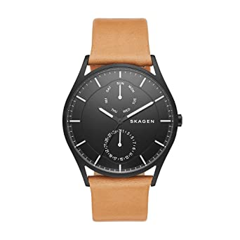 640c72d4c1e Amazon.com  Skagen Men s SKW6265 Holst Light Brown Leather Watch  Skagen   Watches